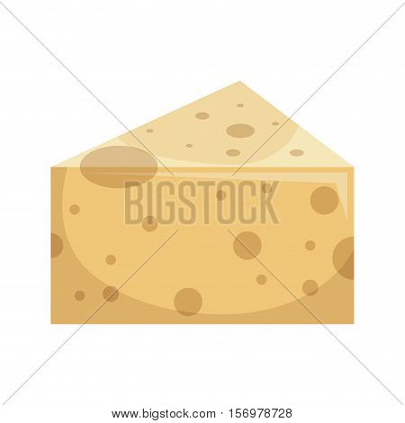 cheese delicious portion isolated icon vector illustration design