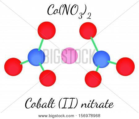 Cobalt II nitrate CoN2O6 molecule isolated on white