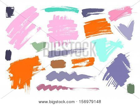 Brush grungy vector abstract hand-painted background. Grunge Brush Stroke. Modern Textured Brush Stroke