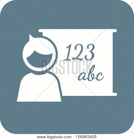 Class, school, classroom icon vector image. Can also be used for kids. Suitable for web apps, mobile apps and print media.