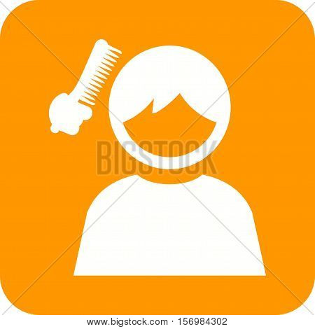 Hair, brushing, kids icon vector image. Can also be used for kids. Suitable for use on web apps, mobile apps and print media.