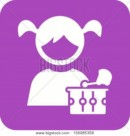 Toy, playing, kid icon vector image. Can also be used for kids. Suitable for web apps, mobile apps and print media.