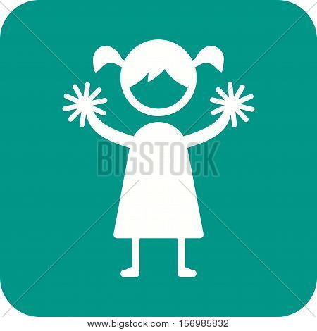 Cheerleading, sport, team icon vector image. Can also be used for kids. Suitable for web apps, mobile apps and print media.