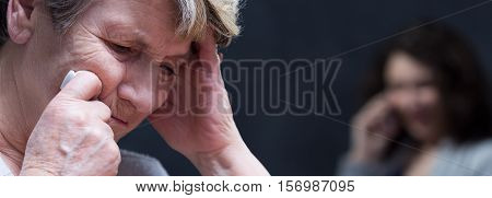 Upset And Distressed Elderly Woman