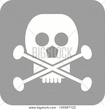 Skull, sign, warning icon vector image. Can also be used for warning caution. Suitable for mobile apps, web apps and print media.