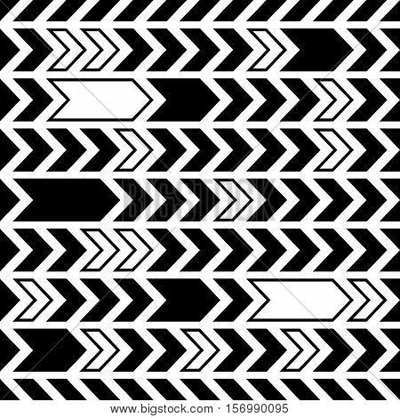 Black creative vintage seamless pattern abstract arrows design