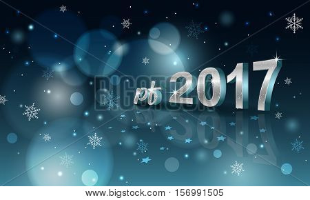 Pf 2017 Blurred Abstract Vector Background.
