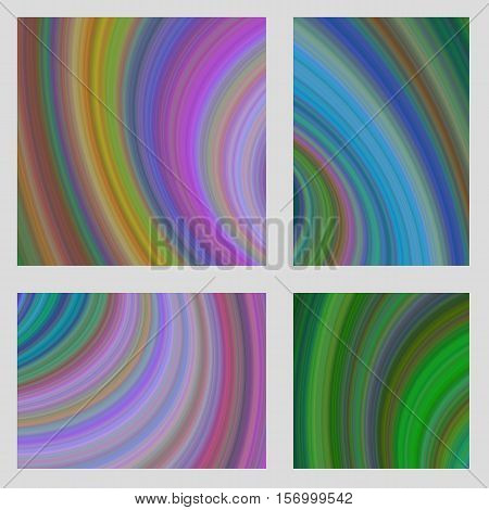 Abstract computer generated psychedelic design brochure background set