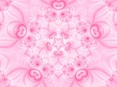 Abstract pink background generated from a fractal pattern. poster