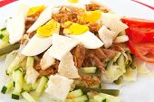 Indonesian vegetarian food Gado Gado with egg poster