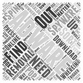removal adware spyware word cloud concept Text Background poster