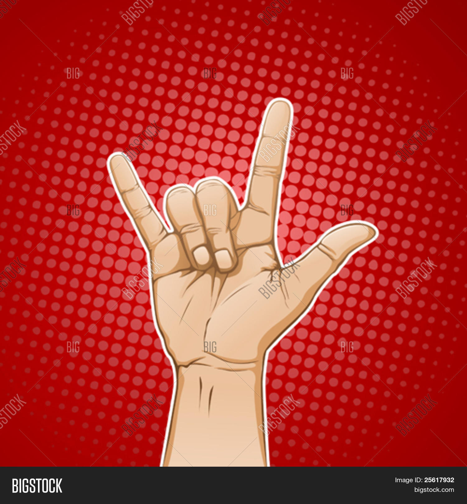 Hand love you metal sign vector photo bigstock hand in i love you metal sign biocorpaavc