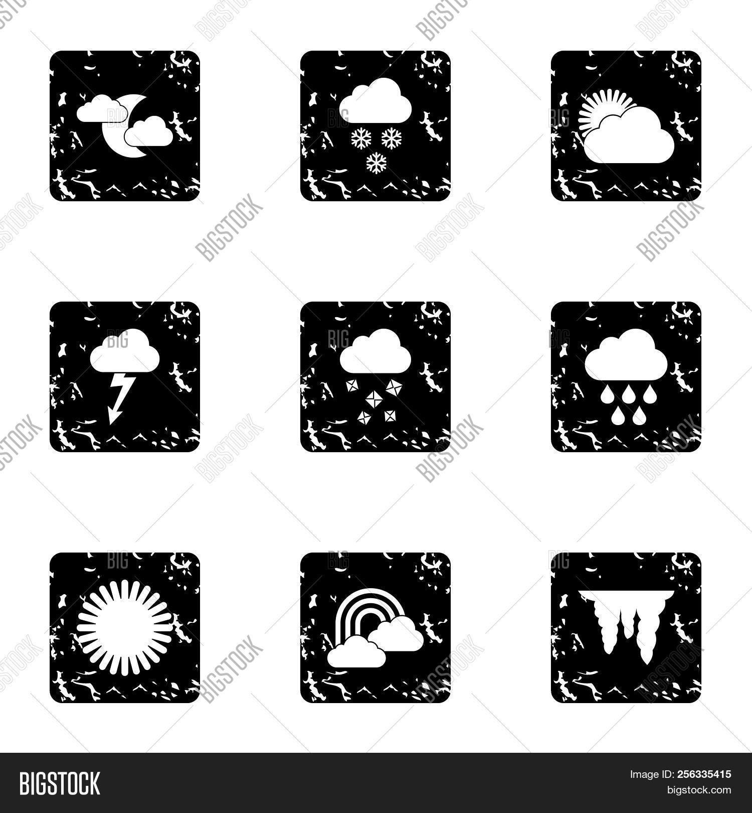 Weather Forecast Icons Image & Photo (Free Trial) | Bigstock