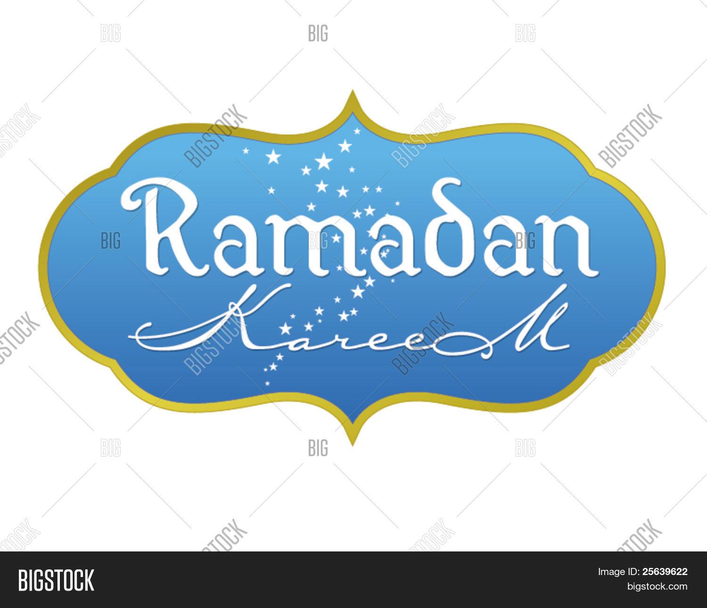 Ramadan greetings english script vector photo bigstock ramadan greetings in english script translated from arabic as ramadan kareem vector kristyandbryce Images