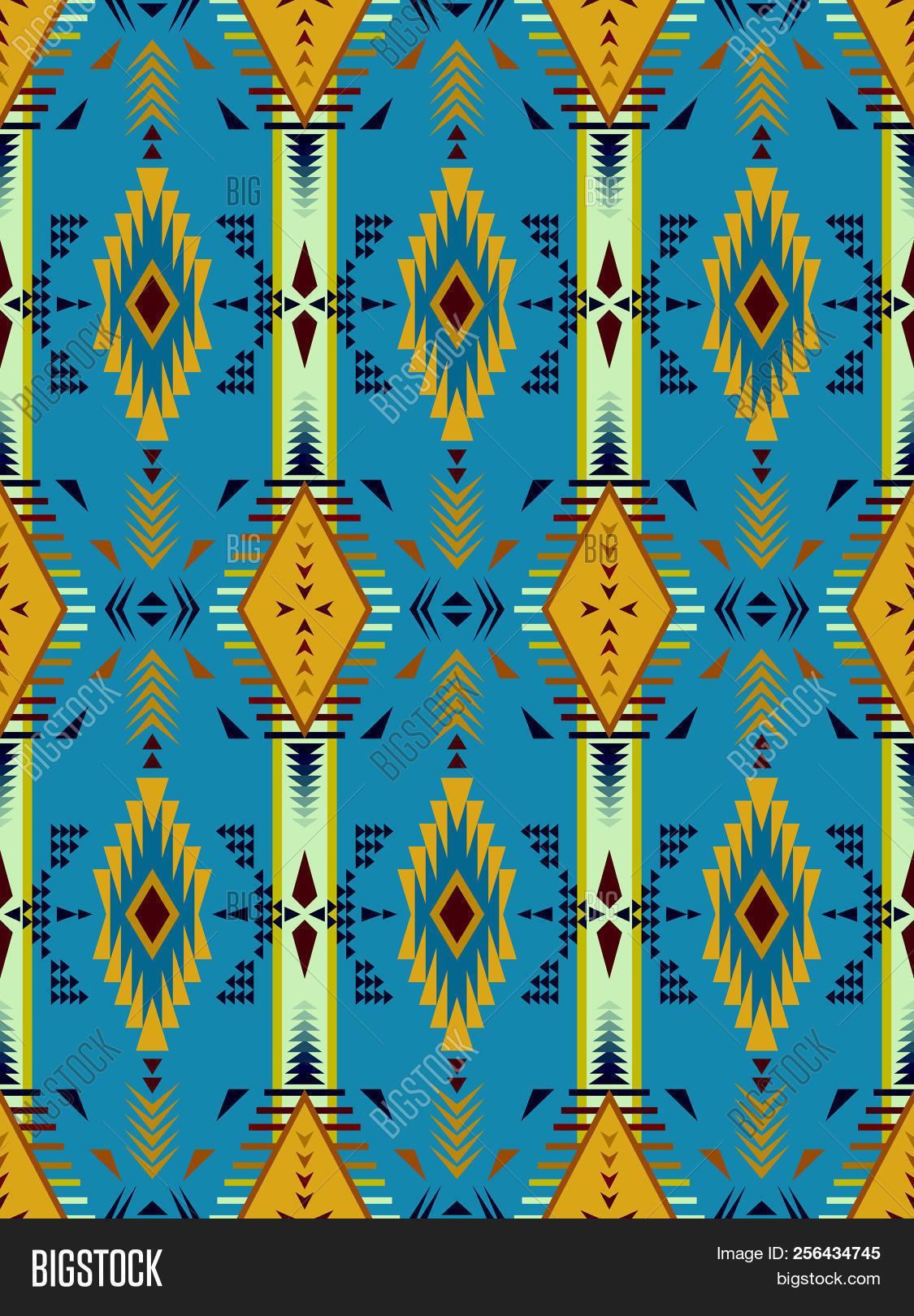 Aztec Geometric Vector Photo Free Trial Bigstock