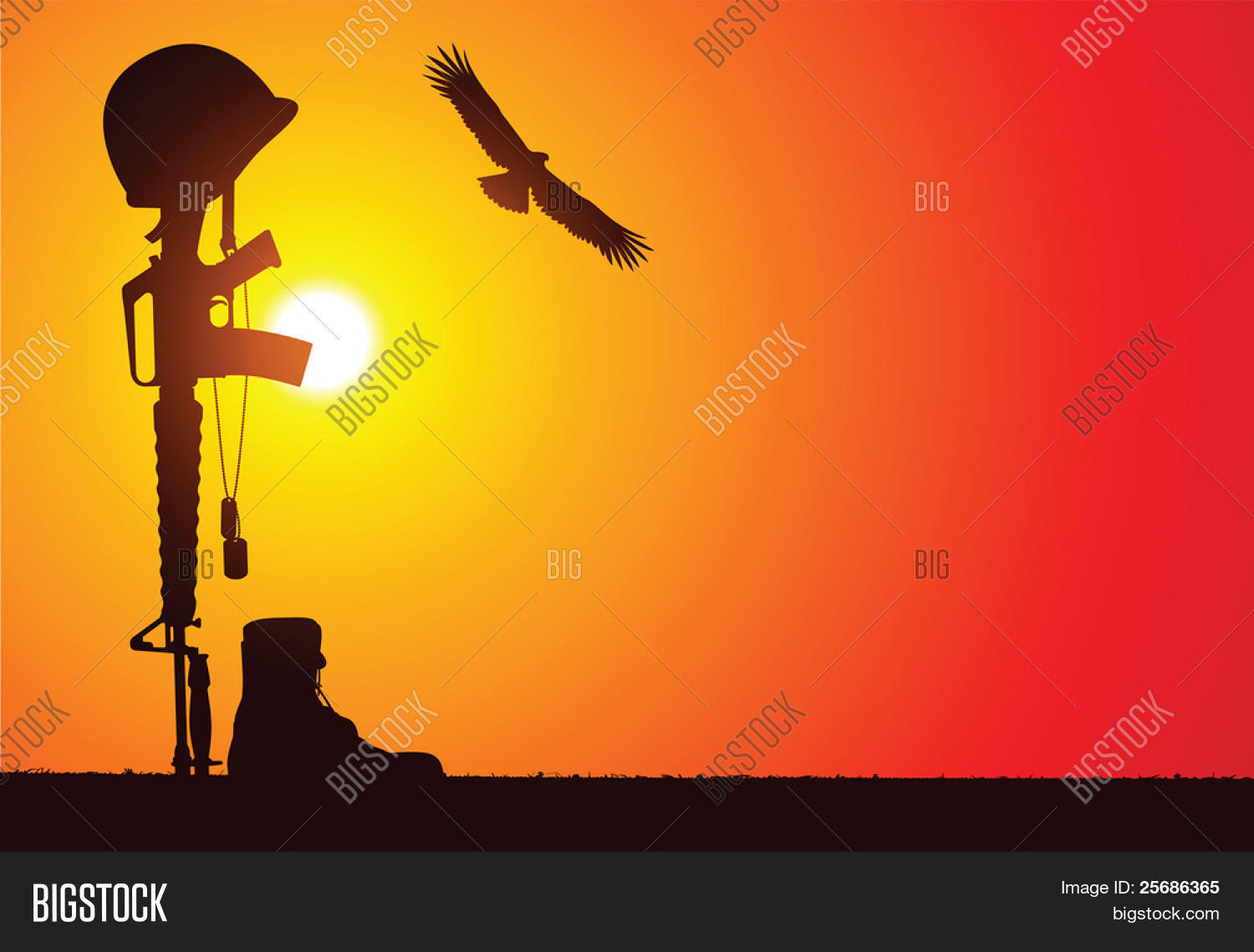 Soldiers Rifle Vector Photo Free Trial Bigstock