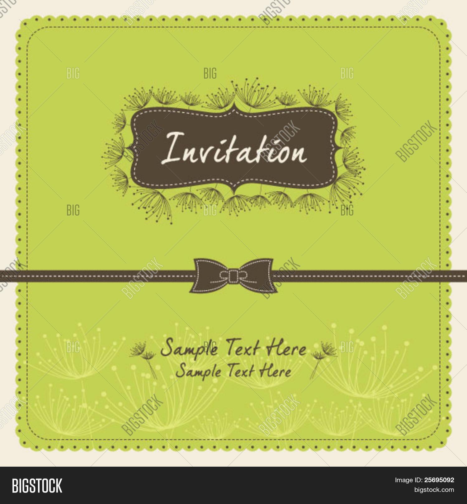 Dandelion Invitation Vector Photo Free Trial