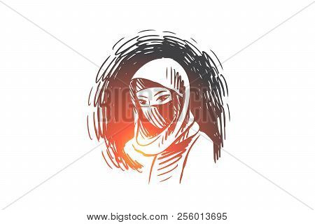 Woman Hijab Islam Vector Photo Free Trial