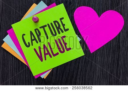 Text Sign Showing Capture Value. Conceptual Photo Customer Relationship Satisfy Needs Brand Strength