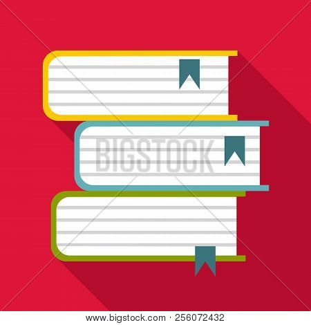 Foreign Books Icon. Flat Illustration Of Foreign Books Icon For Web