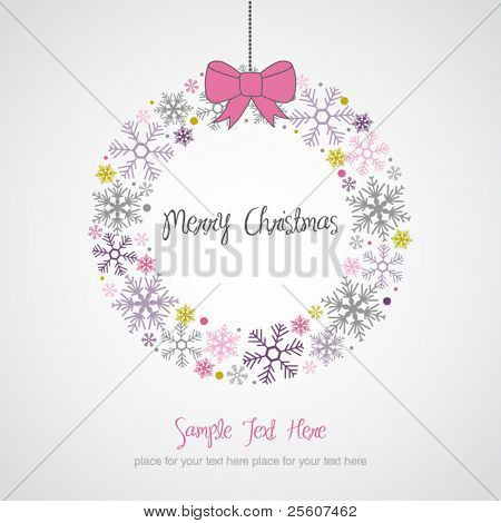 Christmas Wreath Design Card