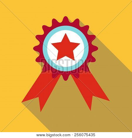 Champion Medal Icon. Flat Illustration Of Champion Medal Icon For Web Design