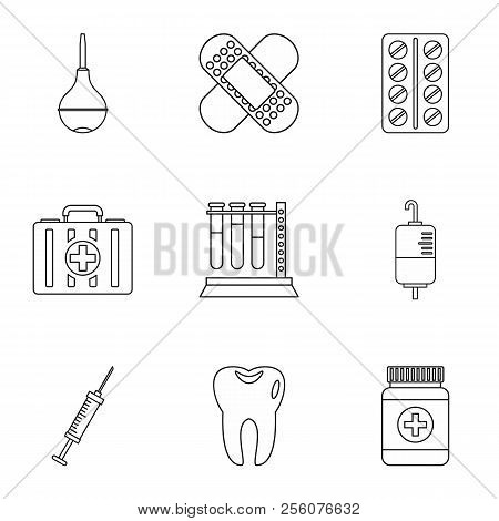 Diagnosis Icons Set. Outline Illustration Of 9 Diagnosis Icons For Web