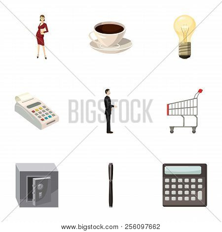 Corporation Icons Set. Cartoon Illustration Of 9 Corporation Icons For Web