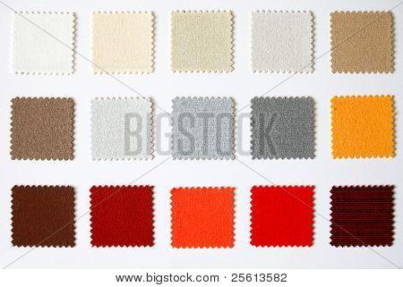 textile colour palette square cutout