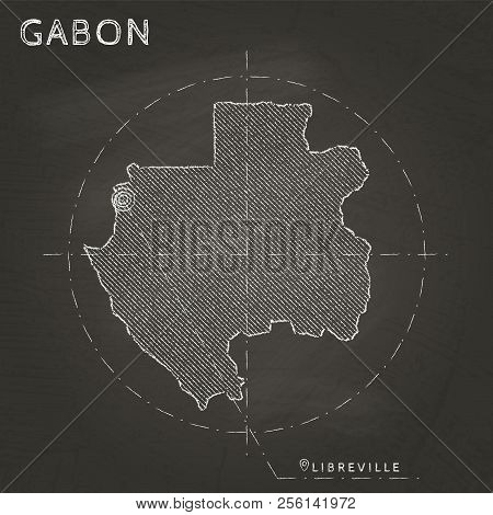 Gabon Chalk Map Vector & Photo (Free Trial) | Bigstock on latvia in world map, lagos in world map, uzbekistan in world map, japan in world map, greenland in world map, korea in world map, bhutan in world map, philippines in world map, somalia in world map, germany in world map, malaysia in world map, netherlands in world map, timor-leste in world map, botswana in world map, liberia in world map, west indies in world map, niger in world map, iran in world map, gulf of guinea in world map, turkmenistan in world map,
