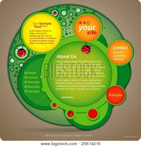Vector website design template poster