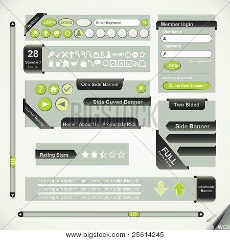 Vector Design, elements for web