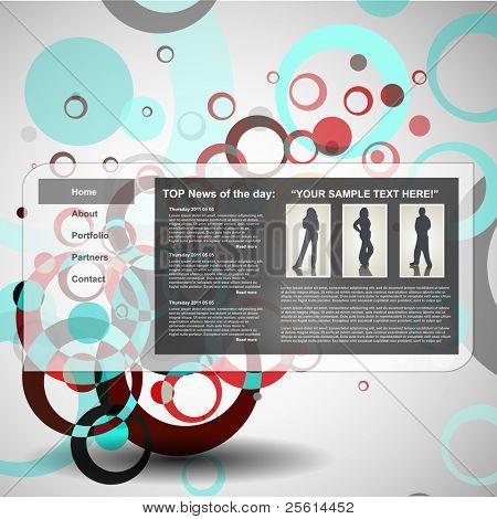 Circle design template, vector