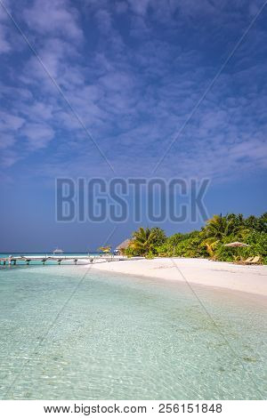 Amazing Deserted Island In Maldives In Asia