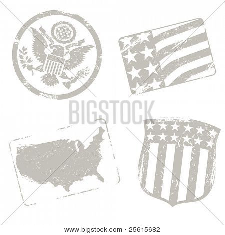 USA travel stamps