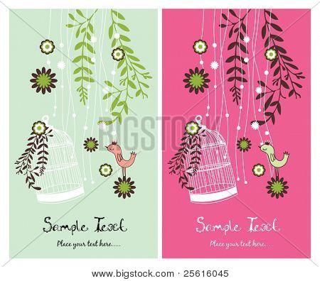 garden theme card design