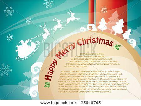 christmas reindeer template design