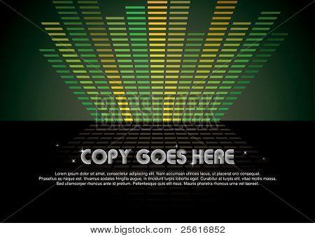 green digital music background design