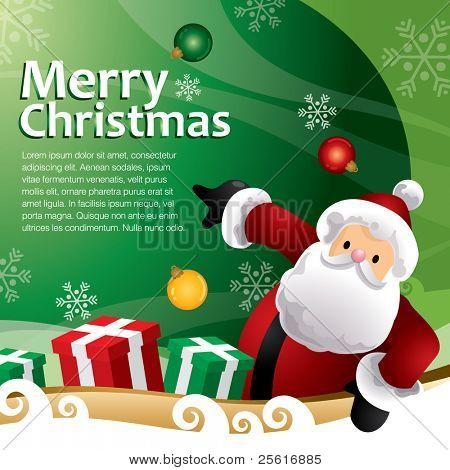 green christmas gift template