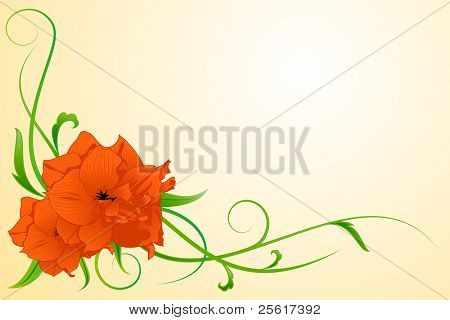 Illustration of a red flower, for vector version, please check my gallery