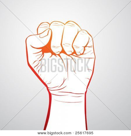 a clenched fist illustration