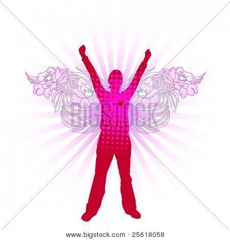 pink modern angel