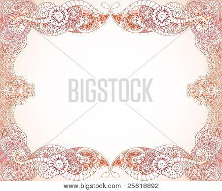 Henna Border