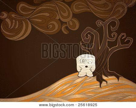 Halloween Mummy on a Hill