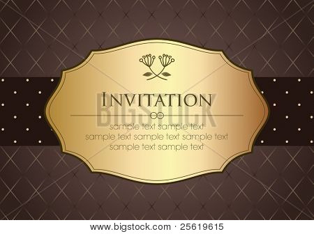 Invitation Card in Retro Style