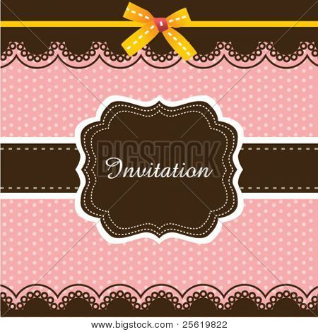 Invitation card design 03