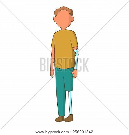 Man With Prostheses Icon. Cartoon Illustration Of Man With Prostheses Icon For Web Design