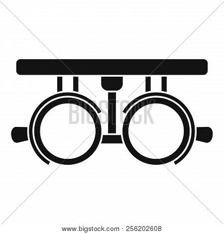 Trial Frame For Checking Patient Vision Icon. Simple Illustration Of Trial Frame For Checking Patien