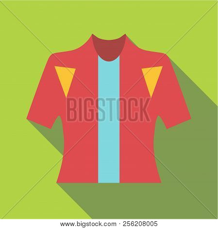 T-shirt For Cyclists Icon. Flat Illustration Of T-shirt For Cyclists Icon For Web