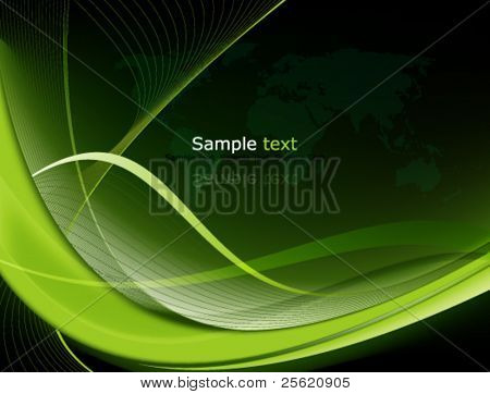 Eps10 Green Abstract Background